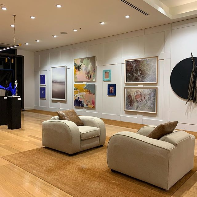 Photo from inside the art gallery